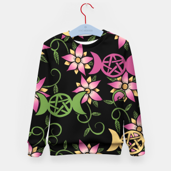 Thumbnail image of Triple Moon Green Witch Kid's sweater, Live Heroes