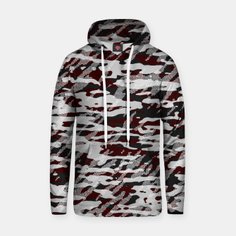 Miniatur Red Camouflage Pattern Mosaic Style Kapuzenpullover, Live Heroes