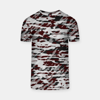 Thumbnail image of Red Camouflage Pattern Mosaic Style T-Shirt, Live Heroes