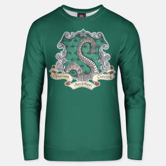 Thumbnail image of Cunning Folk Use Any Means ~ Slytherin  Unisex sweater, Live Heroes