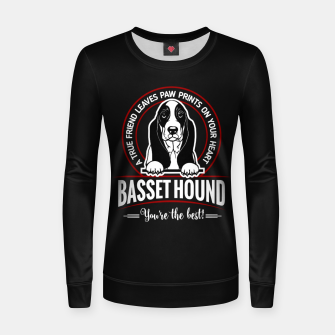 BASSET HOUND - You are The Best ! Women sweater thumbnail image