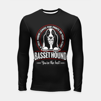 Thumbnail image of BASSET HOUND - You are The Best ! Longsleeve rashguard , Live Heroes
