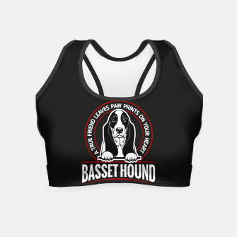 Thumbnail image of BASSET HOUND - You are The Best ! Crop Top, Live Heroes