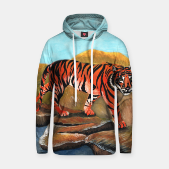 Thumbnail image of tiger on the rocks hoody, Live Heroes