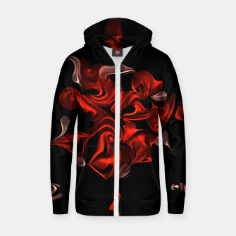 Thumbnail image of Flaming Rose Zip up hoodie, Live Heroes