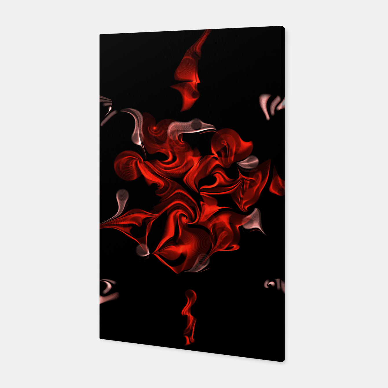 Image of Flaming Rose Canvas - Live Heroes
