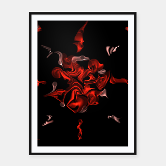 Thumbnail image of Flaming Rose Framed poster, Live Heroes