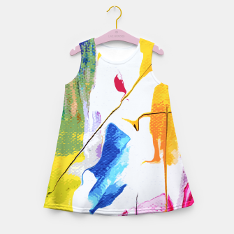 Miniatur Endless Abstract Girl's summer dress, Live Heroes