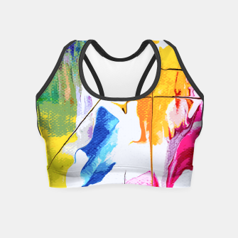 Thumbnail image of Endless Abstract Crop Top, Live Heroes