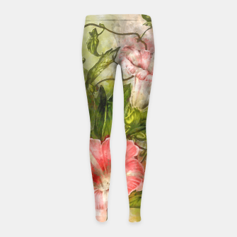 Thumbnail image of Blossom Pink Girl's leggings, Live Heroes