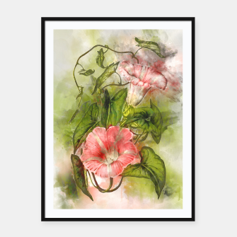 Thumbnail image of Blossom Pink Framed poster, Live Heroes