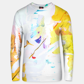 Miniatur Yellow Modern Abstract Unisex sweater, Live Heroes