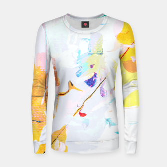 Miniatur Yellow Modern Abstract Women sweater, Live Heroes