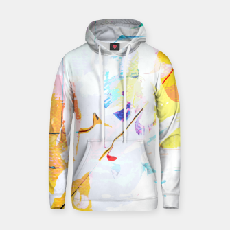 Miniatur Yellow Modern Abstract Hoodie, Live Heroes