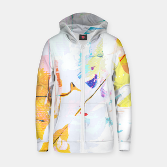 Thumbnail image of Yellow Modern Abstract Zip up hoodie, Live Heroes