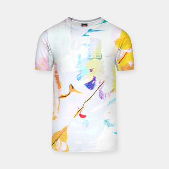 Miniatur Yellow Modern Abstract T-shirt, Live Heroes