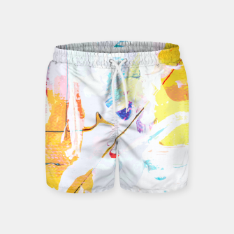 Miniatur Yellow Modern Abstract Swim Shorts, Live Heroes