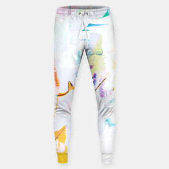 Miniatur Yellow Modern Abstract Sweatpants, Live Heroes