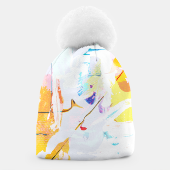 Miniatur Yellow Modern Abstract Beanie, Live Heroes