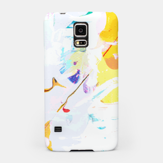 Miniatur Yellow Modern Abstract Samsung Case, Live Heroes