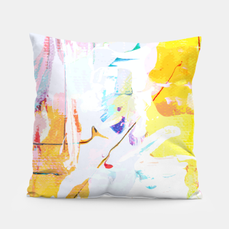 Miniatur Yellow Modern Abstract Pillow, Live Heroes