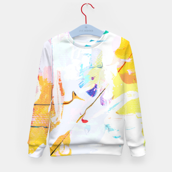Miniatur Yellow Modern Abstract Kid's sweater, Live Heroes
