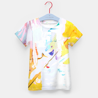 Miniatur Yellow Modern Abstract Kid's t-shirt, Live Heroes