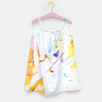 Thumbnail image of Yellow Modern Abstract Girl's dress, Live Heroes
