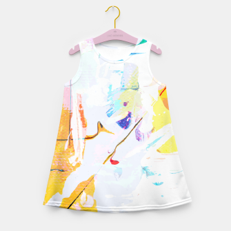 Miniatur Yellow Modern Abstract Girl's summer dress, Live Heroes