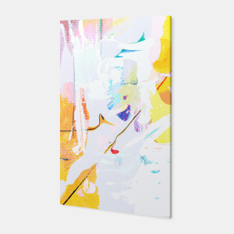 Miniatur Yellow Modern Abstract Canvas, Live Heroes