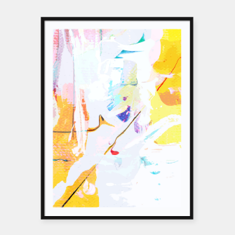 Miniatur Yellow Modern Abstract Framed poster, Live Heroes