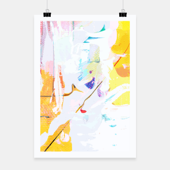 Miniatur Yellow Modern Abstract Poster, Live Heroes