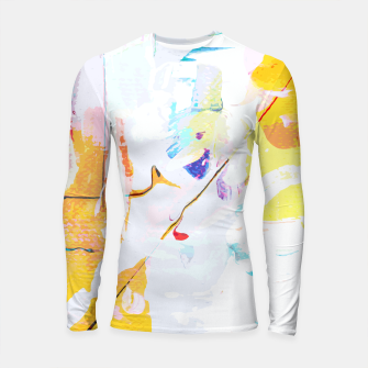 Miniatur Yellow Modern Abstract Longsleeve rashguard , Live Heroes