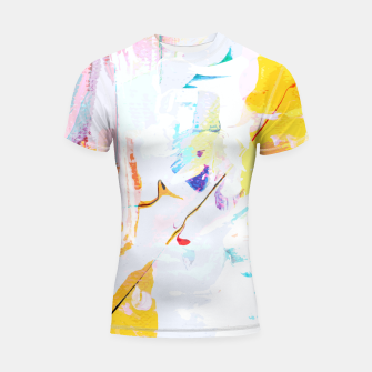 Thumbnail image of Yellow Modern Abstract Shortsleeve rashguard, Live Heroes