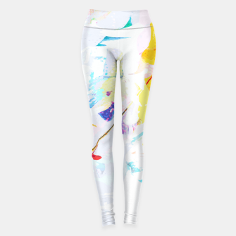Miniatur Yellow Modern Abstract Leggings, Live Heroes