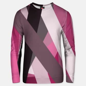 Thumbnail image of pink brown black white abstact geometric art Unisex sweater, Live Heroes