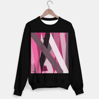 Thumbnail image of pink brown black white abstact geometric art Sweater regular, Live Heroes