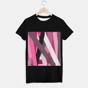 Miniaturka pink brown black white abstact geometric art T-shirt regular, Live Heroes