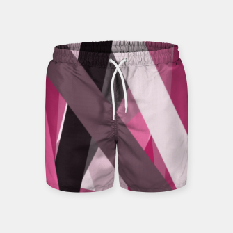 Miniaturka pink brown black white abstact geometric art Swim Shorts, Live Heroes