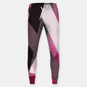 Miniaturka pink brown black white abstact geometric art Sweatpants, Live Heroes