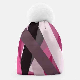 Miniaturka pink brown black white abstact geometric art Beanie, Live Heroes