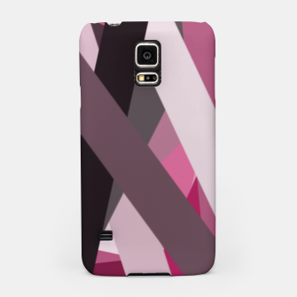 Miniaturka pink brown black white abstact geometric art Samsung Case, Live Heroes