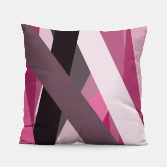 Thumbnail image of pink brown black white abstact geometric art Pillow, Live Heroes
