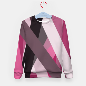 Thumbnail image of pink brown black white abstact geometric art Kid's sweater, Live Heroes