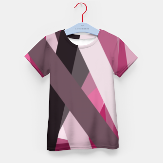 Thumbnail image of pink brown black white abstact geometric art Kid's t-shirt, Live Heroes