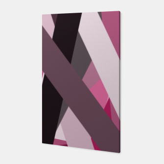 Thumbnail image of pink brown black white abstact geometric art Canvas, Live Heroes