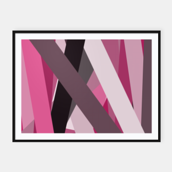 Thumbnail image of pink brown black white abstact geometric art Framed poster, Live Heroes