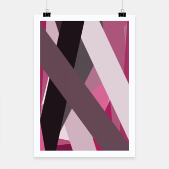 Miniaturka pink brown black white abstact geometric art Poster, Live Heroes