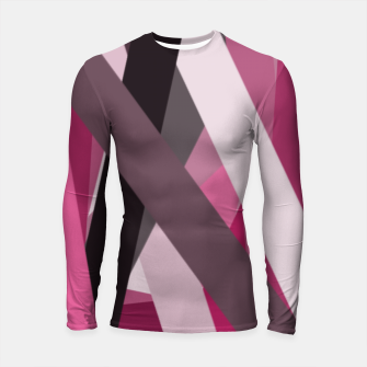 Thumbnail image of pink brown black white abstact geometric art Longsleeve rashguard , Live Heroes