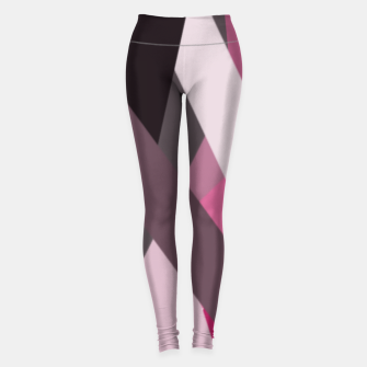 Miniaturka pink brown black white abstact geometric art Leggings, Live Heroes